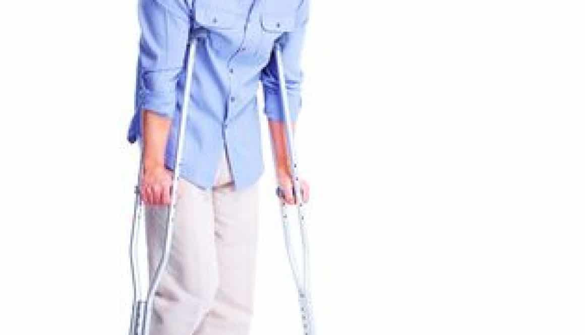 Man on crutches wonders about changing doctor
