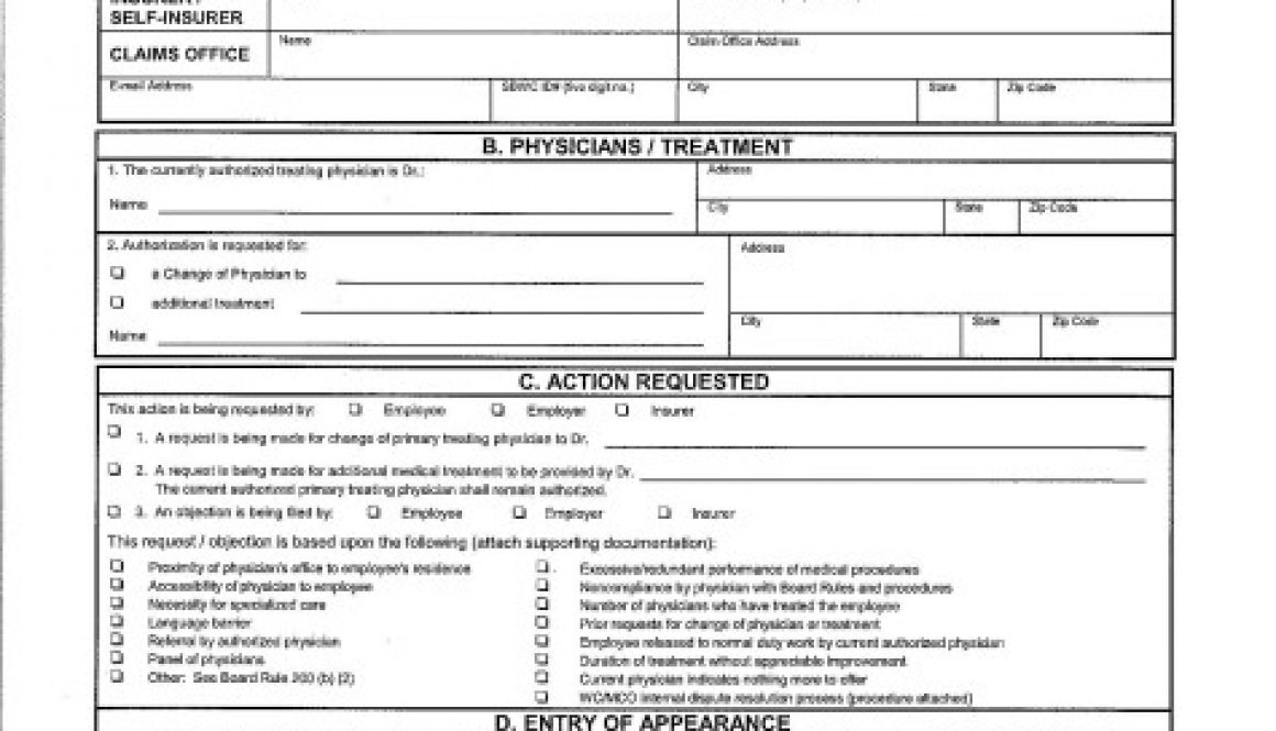Workers' compensation form WC-200