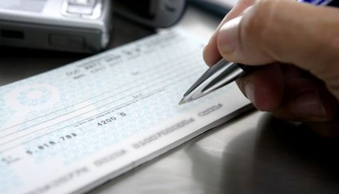 Signing disability benefits check