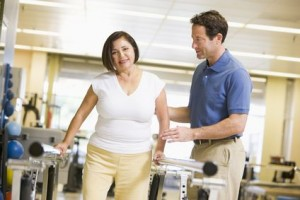 Physical therapy helps an injured worker recover from a back injury