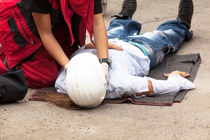 First aid treatment for work injury