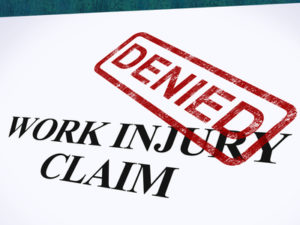The insurance company sends a letter denying your workers compensation case